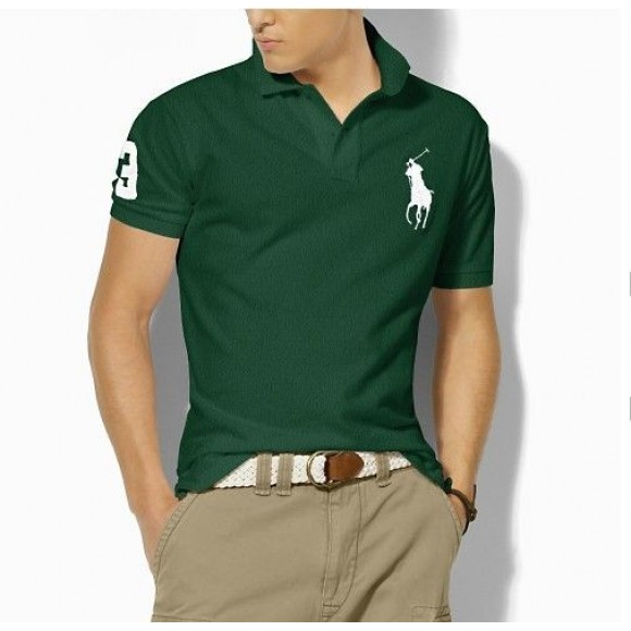 Men's Polo Ralph Lauren Classic-Fit Big Pony Polo Faded Forest
