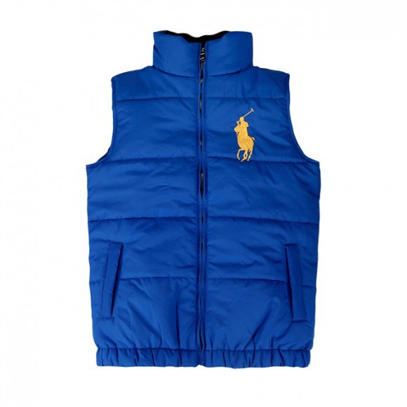 Big polo blue down vest for cheap for cheap