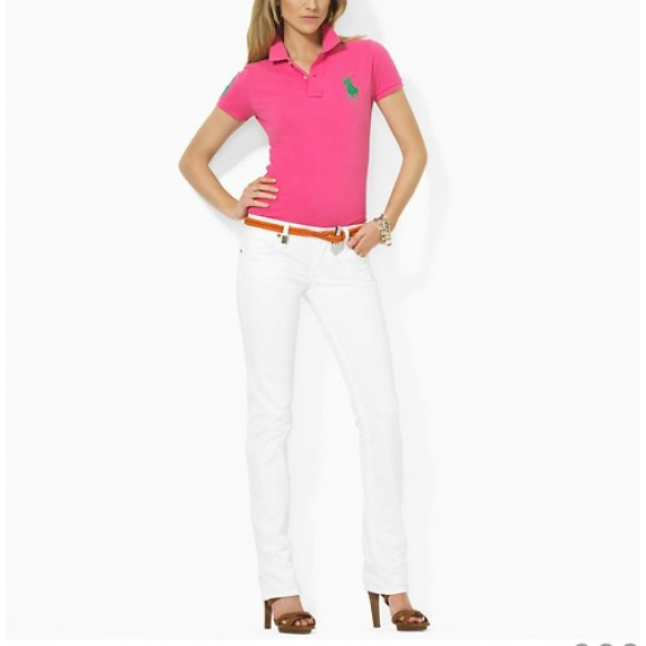 Excellent quality polo mesh polo women pink